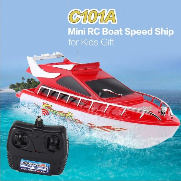 סירת מירוץ מקצועית על שלט רחוק
