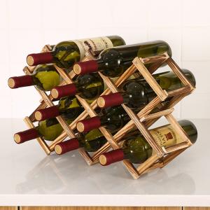מדף עץ דקורטיבי לאחסון בקבוקי יין7