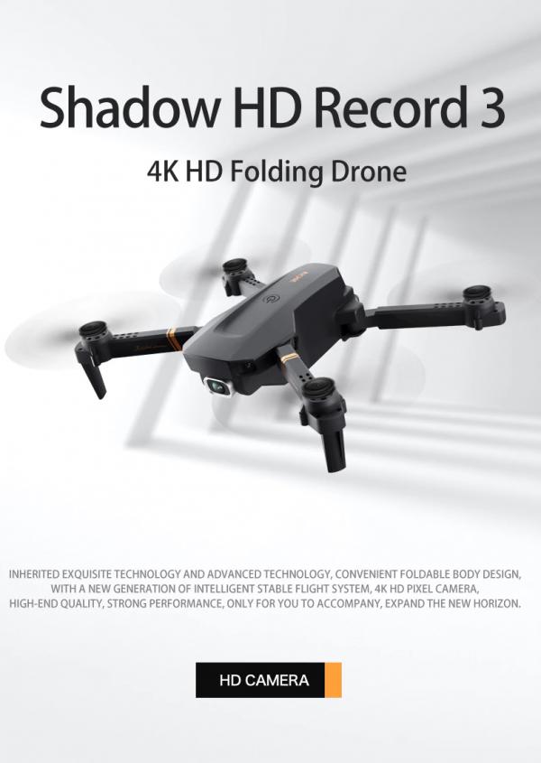 רחפן מקצועי בעל 2 מצלמות Dual camera כולל שלט באיכות 4K