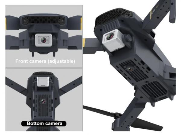 רחפן מקצועי בעל 2 מצלמות Dual camera כולל שלט באיכות 4K5
