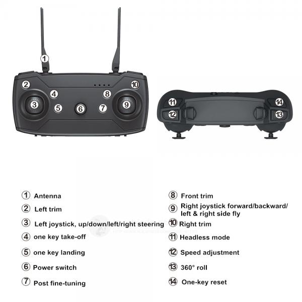 רחפן מקצועי בעל 2 מצלמות Dual camera כולל שלט באיכות 4K6