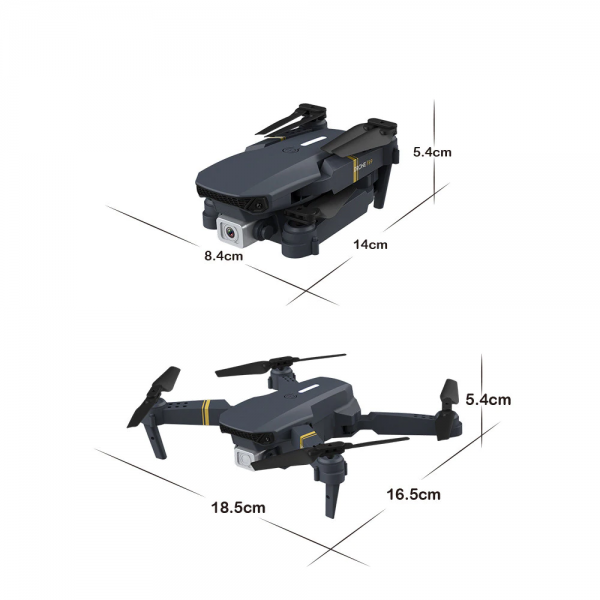 רחפן מקצועי בעל 2 מצלמות Dual camera כולל שלט באיכות 4K7