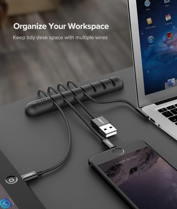 ארגונית כבלים לשולחן העבודה מבית Ugreen5